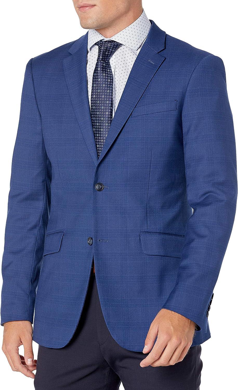 Perry Ellis Men's Very Slim Fit Plaid Stretch Jacket
