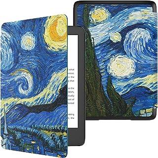 Capa para Novo Kindle 10a geração (aparelho com iluminação embutida) - rígida - sistema de hibernação - Noite Estrelada