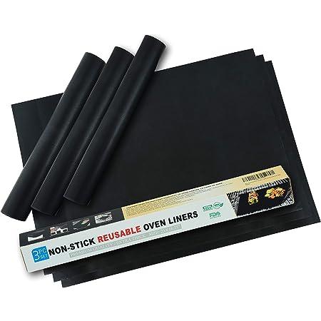 Evelots Oven Rack Liner Extra Large Non Stick Fiberglass Reuse 400 Degrees Set 2 Kitchen Dining