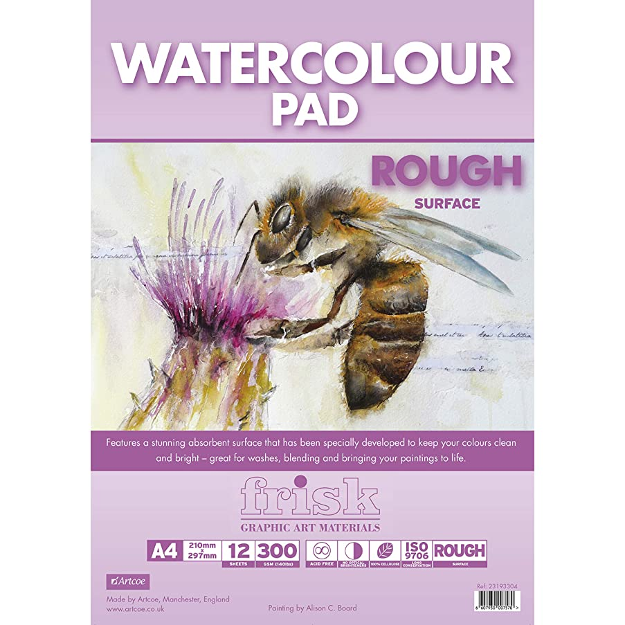 Frisk Watercolour Paper Pad A4 300gsm, White