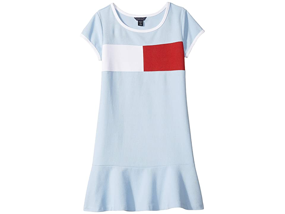 Tommy Hilfiger Kids Core Flag Dress (Big Kids) (Chambray Blue) Girl