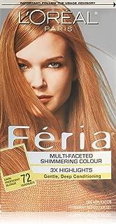 L'Oreal Paris Feria Multi-Faceted Shimmering Color  Dark Iridescent Blonde, 72