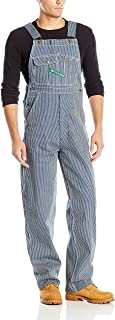 Key Men's Hickory Stripe High Back Bib Overall