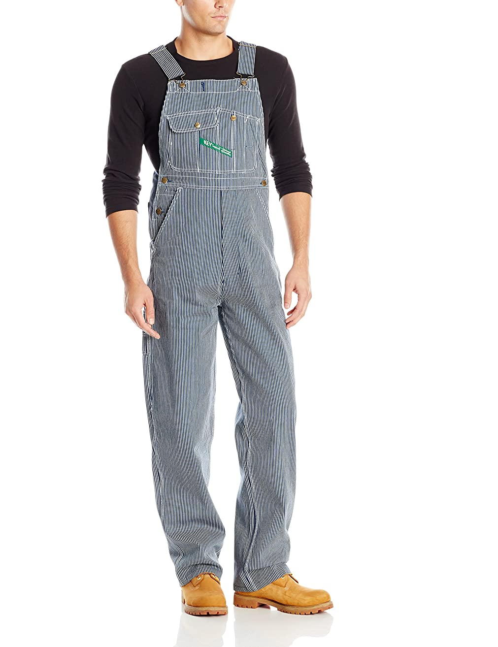 Key Apparel Men's Hickory Stipe High Back Bib Overall
