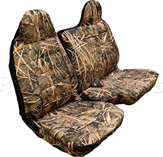 RealSeatCovers A77 Regular Cab RCab 60/40 Split Bench Seat Cover Molded Headrest for Ford Ranger 1998-2003 (Muddy Water Camo)