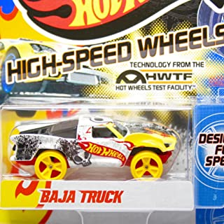 Team Hot Wheels High-Speed Wheels Baja Truck White/Yellow