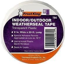 Fita de plástico para vedação de clima T94H da Frost King, 5 cm por 7,6 m, transparente, 5 cm x 5 m