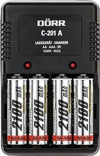 Dörr Universal batteriladdare C-201A inkl. 4x NiMH 2100mAh AA svart