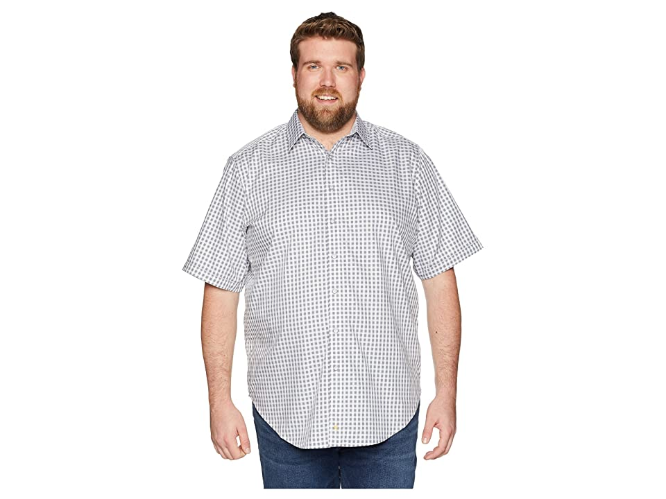 Robert Graham Big Tall Morales Short Sleeve Woven Shirt (Grey (Tall)) Men