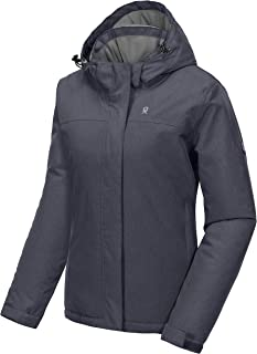 Little Donkey Andy Women's Waterproof Ski Snowboarding Jacket Windproof Warm Coat with Detachable Hood