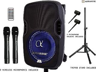"""Alphasonik 10"""" Portable Rechargeable Battery Powered 1000W Pro DJ Amplified Loud.."""