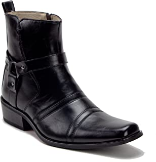 Jazame Mens 39093 Leather Lined Tall Western Style Cowboy Dress Boots