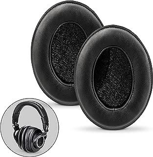 Brainwavz Sheepskin Ear Pads for ATH M50X, M50XBT, M40X, HyperX, SHURE, Turtle Beach, AKG, ATH, Philips, JBL, Fostex Replacement Memory Foam Earpads & Fits Many Headphones (See List), Leather Oval