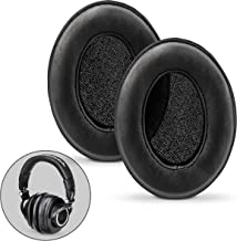 Brainwavz Sheepskin Ear Pads for ATH M50X, M50XBT, M40X, HyperX, SHURE, Turtle Beach, AKG, ATH, Philips, JBL, Fostex Replacement Memory Foam Earpads & Fits Many Headphones (See List), Leather Oval
