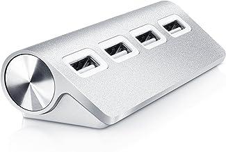 CSL - 4 Ports USB Hub - 4 Ports Highspeed Compatible avec Ordinateur Portable Netbook PC Mac Apple - Plug et Play