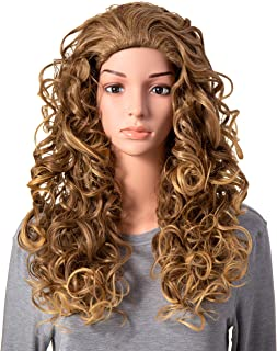 OneDor Long Hair Curly Wavy Full Head Halloween Wigs Cosplay Costume Party Hairpiece (R1416T)