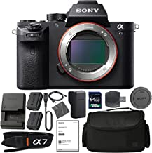 Sony Alpha a7S II Mirrorless Digital Camera (Body Only) with (2) Sony NP-FW50 Batteries, 64gb SDXC 1200x Card, Card Reader, Carrying case, Charger Bundle Kit - International Version