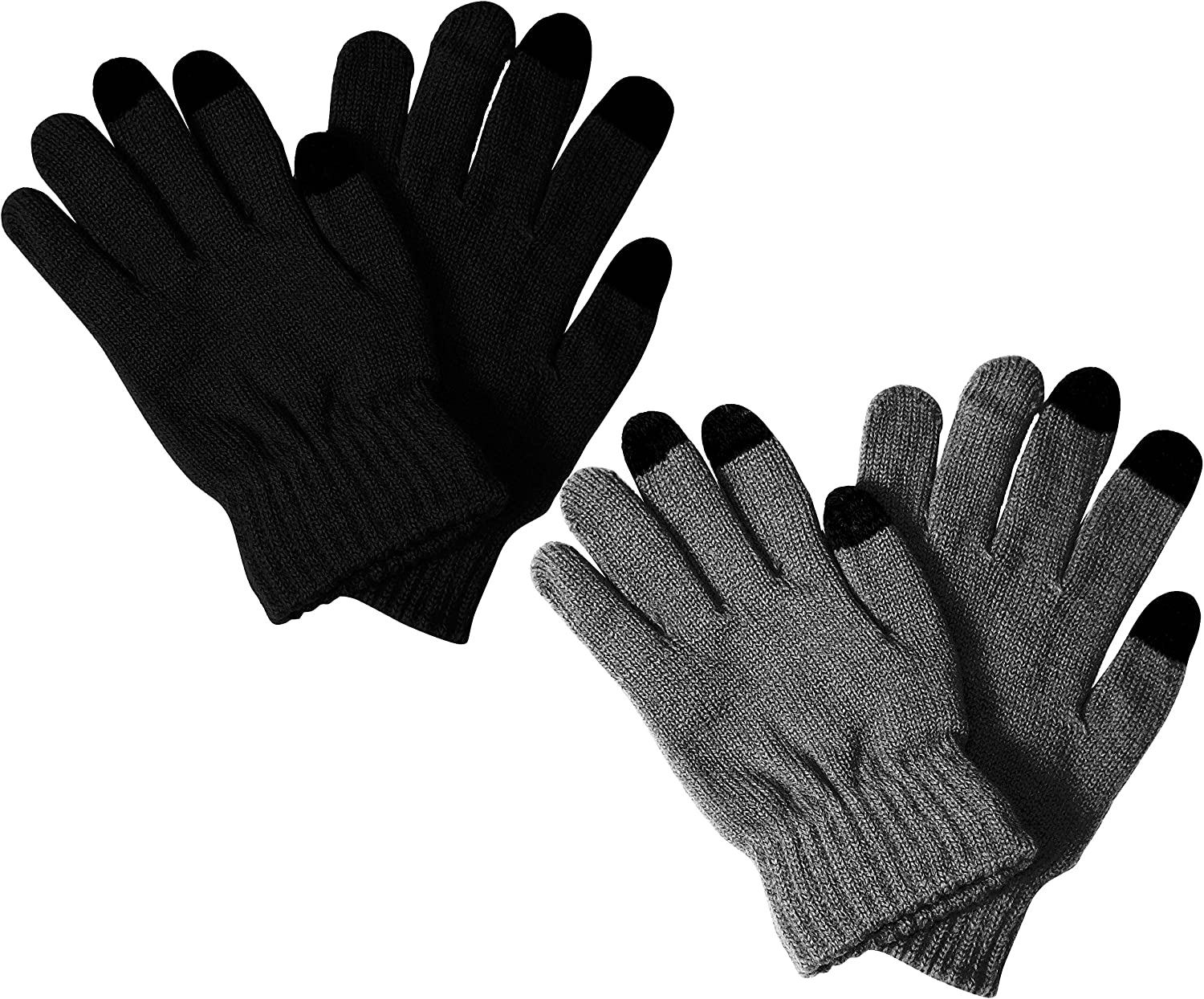 Peach Couture Unisex Warm Knitted Double Layered Touch Screen Texting Gloves