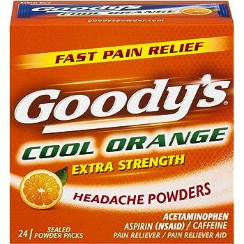 Goody's Extra Strength Powders | Cool Orange | Aspirin & Caffeine | 24 Count