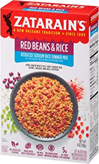 Zatarain's Reduced Sodium Red Beans & Rice Mix, 8 oz (Pack of 6)