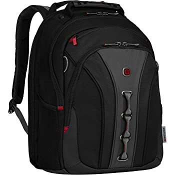 """Wenger 600631 The Legacy Notebook Carrying Backpack, 16"""", Black/Gray (WA-7329-14F00)"""