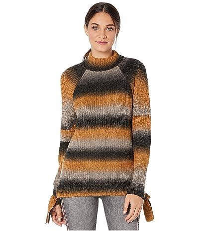 kensie Fuzzy Sweater Knit Ombre Sweater KSNK5949 (Toffee Combo) Women