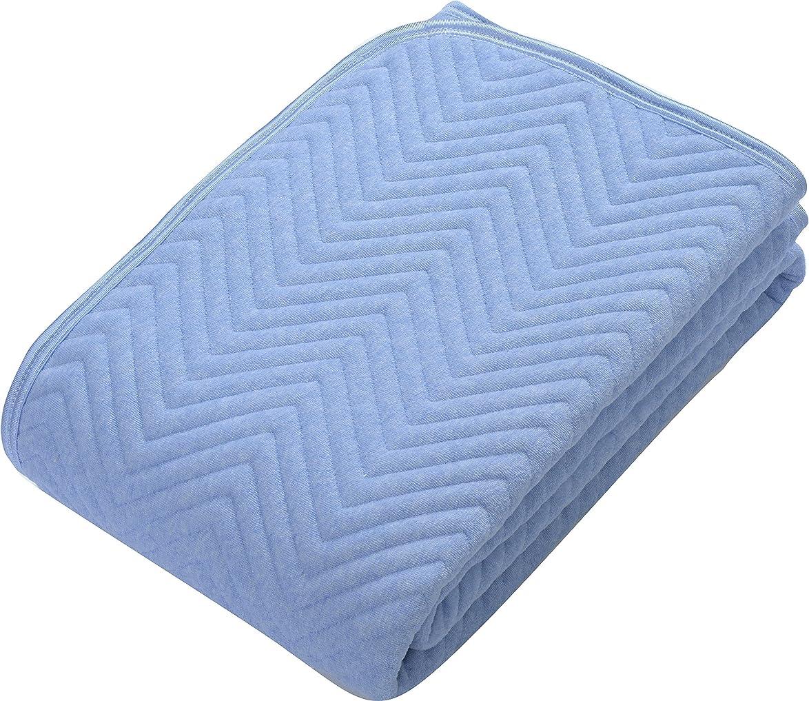 専制支払う剣西川(Nishikawa) ベットパッド?敷きパッド ブルー セミダブル 敷きパッド 綿100% 洗える 中わたたっぷりしっかりタイプ 5SP6600 SD
