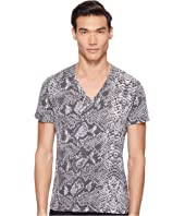 Just Cavalli - Snakeskin Print V-Neck T-Shirt