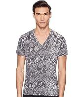 Just Cavalli - Snakeskin Print V-Neck T-Shirt
