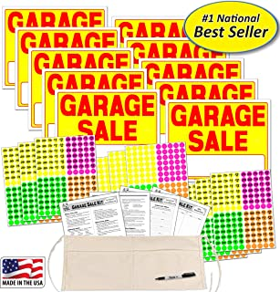 Garage Sale Sign Kit with Pricing Labels and Change Apron (A504G)