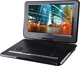Sylvania 15.6-Inch Swivel Screen Portable DVD Player with USB & SD Card Slot & Rechargeable Battery (Renewed)