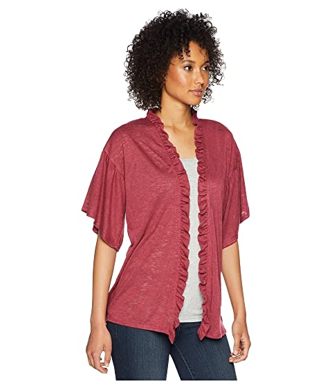 Classic For Sale Discount Codes Clearance Store B Collection by Bobeau Marianne Ruffle Sleeve Cardigan Berry Cheapest Price Online ywZb19q2x