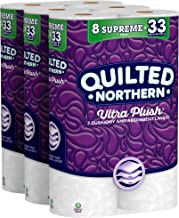 Quilted Northern Ultra Plush Toilet Paper, 319 3-Ply Sheets Per Roll, 8 Count, Pack of 3