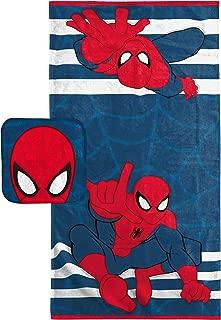 Jay Franco Marvel Spiderman Super Soft & Absorbent Kids 2 Piece Bath Towel & Washcloth Set - Fade Resistant Cotton Terry Towel Set (Official Marvel Product)