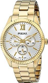 ساعة Pulsar نسائية PP6140 Business Collection ذهبية من الفولاذ المقاوم للصدأ