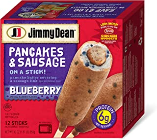 Jimmy Dean, Pancakes & Sausage on a Stick, Blueberry, 12 ct (frozen)