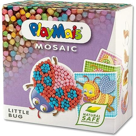 PlayMais Mosaic Kit de Loisirs créatifs Little Bug pour Fille et garçon à partir de 3 Ans   2300+ pièces & 6 modèles de mosaïques (Insectes, Abeilles etc.)   activités manuelles pour Enfants