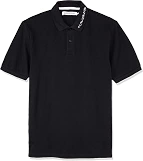 CALVIN KLEIN Jeans Men's Institutional Collar Embroidery Polo