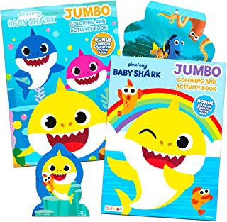 Baby Shark Coloring Book Super Set - Bundle Includes 2 Baby Shark Activity Books with 300 Bonus Stickers (Baby Shark Party...
