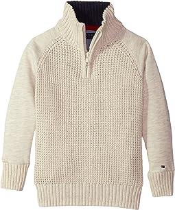 Tommy Hilfiger Kids - Raglan 1/2 Zip Sweater (Big Kids)
