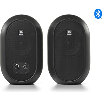 JBL Professional 1 Series 104-BT Compact Desktop Reference Monitors with Bluetooth, Black, Sold as Pair