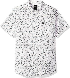 RVCA Men's Thatll Do Print Short Sleeve Woven Button Front Shirt