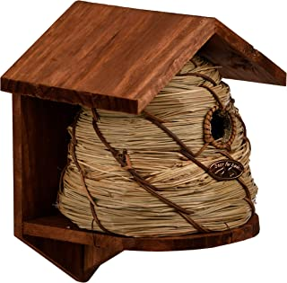 Esschert Design Nistkasten für Blaumeise Brutkasten Vogelhaus Bienenkorb 17,5x17x26cm