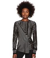 YIGAL AZROUËL - Fringe Detailed Stripe Tuxedo Shirt