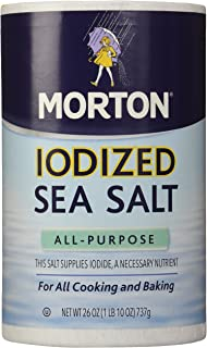 Morton Salt Iodized Sea Salt, 26 oz, 2 pk