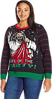 Ugly Christmas Sweater Women's Plus Size Life of The Party