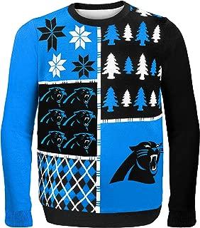 Carolina Panthers Busy Block Ugly Sweater