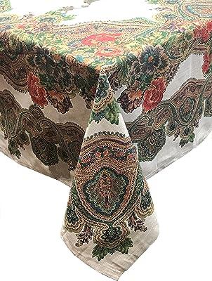 52 x 70 Better Home Black Martini Design Tablecloth PEVA Flannel Backed Kitchen Decorator