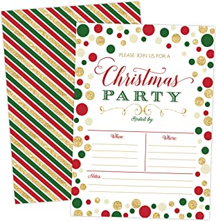 Christmas Party Invitation, Christmas Party Invite, Christmas Party, Holiday Party Invitations, 20 Fill in Invitations and Envelopes