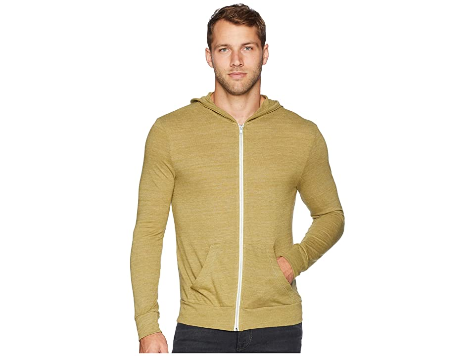 Alternative L/S Zip Hoodie (Eco True Green Olive) Men